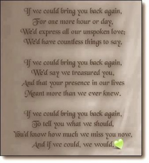 Loss Loved One | Words of Comfort - Bereavement Poems - Bereavement ...