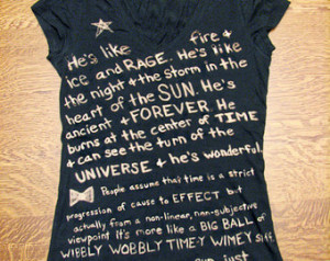Doctor Who Tshirt (Fandom) Quote Bl eached, Custom Made ...