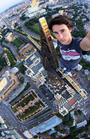 kirill oreshkin takes extreme selfies from moscow s tallest buildings