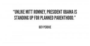 Unlike Mitt Romney, President Obama is standing up for Planned ...