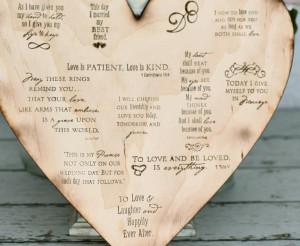 Wedding Sign Wood Heart 12in
