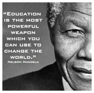 ... mandela nelson mandela on education nelson mandela quotes education is