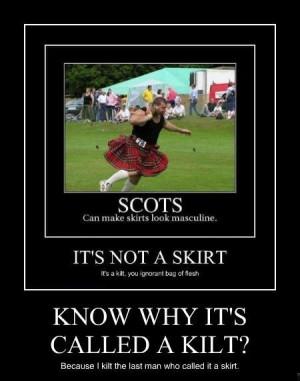This Isn Skirt Kilt And Not