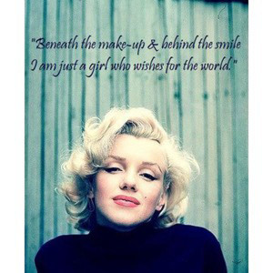 quote from the ultimate girl-next-door Marilyn Monroe.