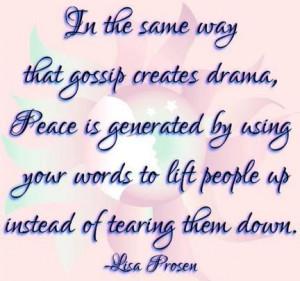 gossip and drama vs. lift 'em up!