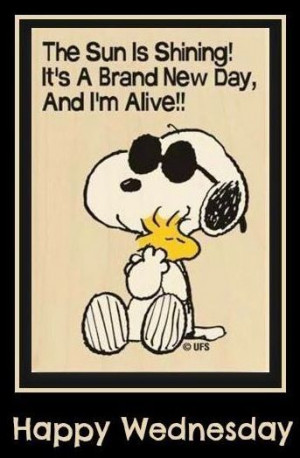 ... , Quote, Snoopy Art, Charli Brown, Brand New Day, Peanuts Gang