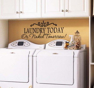 ... Laundry-Today-Vinyl-Wall-Decal-Rules-Quote-Removable-Decals-Wall