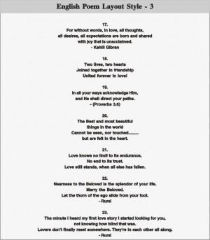 English Poem Layout - 3