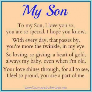 Life Love Quotes My Son