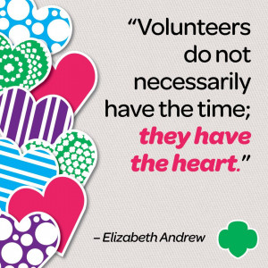 ... all of our Girl Scout volunteers and our entire Girl Scout Community