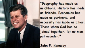 John F. Kennedy Quotes - Quotations and Famous Quotes by John,A List ...
