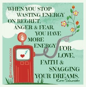 Stop wasting energy on negative things