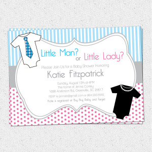 gender neutral baby clothesline invitation printable invitation baby ...