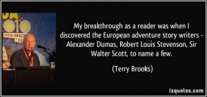My breakthrough as a reader was when I discovered the European ...