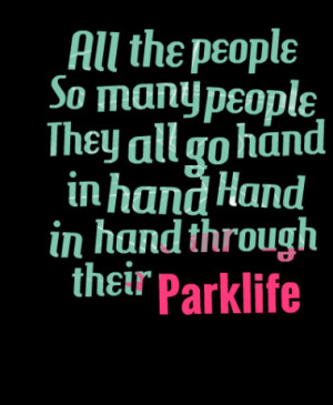 All the people So many people They all go hand in hand Hand in hand ...
