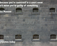 funny quote about guilt by Charles Manson