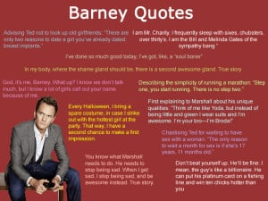 How I met your mother: Barney Quotes