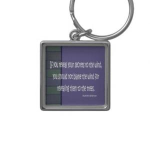kahlil gibran quote ketychain key chain