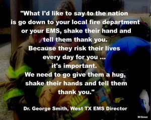 Dr George Smith, West TX EMS director quote on what to do