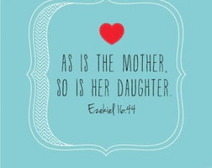mother and daughter relationship in the bible