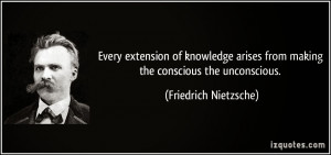 Quote by Nietzsche about his truth of the Unconscious mind.