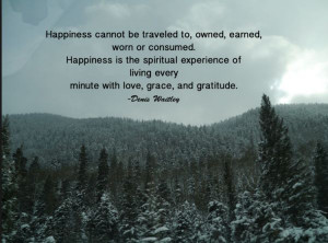 Want to be HAPPY…. see great quote by Denis Waitley in twitpic