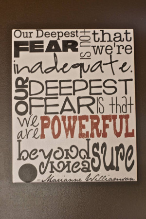 our deepest fear quote canvas
