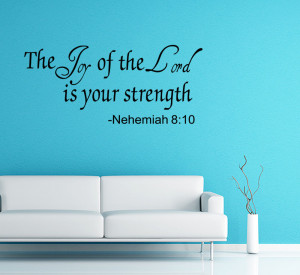 Details about THE JOY OF THE LORD Vinyl Wall quote Decal home Decor ...