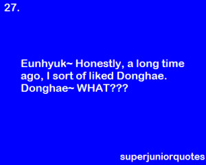 Your favourite quotes from the Super Junior members.