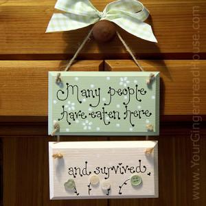 Wooden Kitchen Sign - Click for Bigger Image