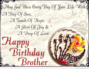 Happy birthday to all brothes around the world!