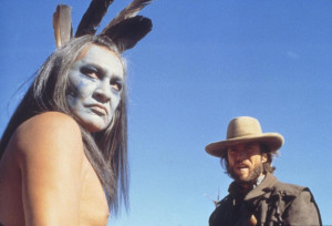 Still of Clint Eastwood and Will Sampson in The Outlaw Josey Wales