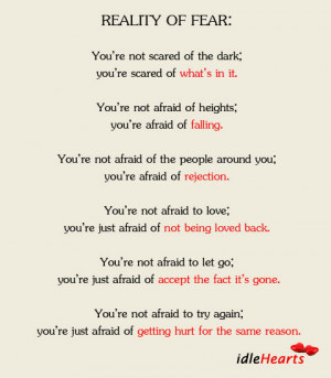 Reality of Fear: You're Not Afraid of…
