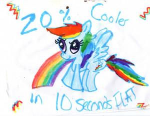 Rainbow Dash Pony Quote Poster by PrincessofDestiny114