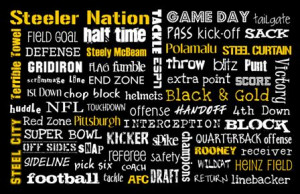 steeler fans man cave home or office or as a gift to a diehard steeler ...