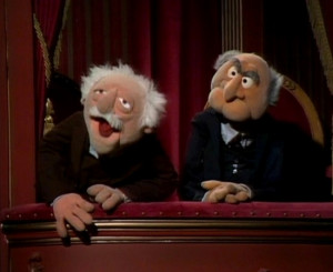 Muppet Show Statler and Waldorf