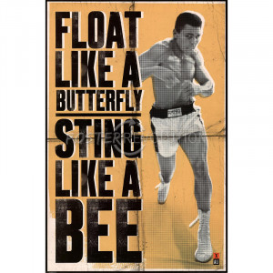 Muhammad Ali (Float Like a Butterfly, Sting Like a Bee, Yellow) Sports ...