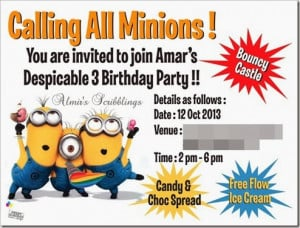 minion happy birthday card printable