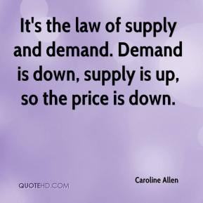 ... supply and demand. Demand is down, supply is up, so the price is down