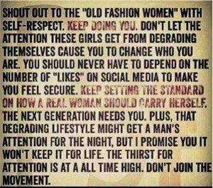 Old fashion women