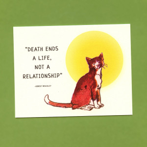 Quotes About Death Of A Friend Sympathy Pet sympathy card - loss of a