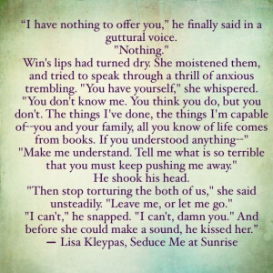 Seduce Me At Sunrise- Lisa Kleypas