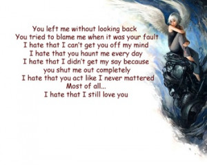 hate that I still love you