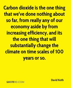 David Keith - Carbon dioxide is the one thing that we've done nothing ...