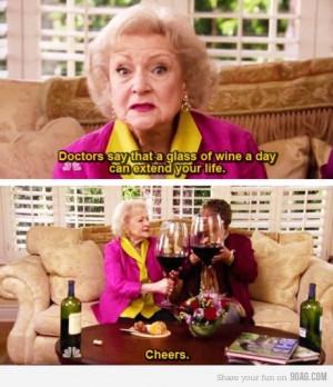 betty white...cheers!