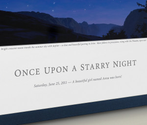 ... Child's First Starry Night print from Indigo Night ($119 each