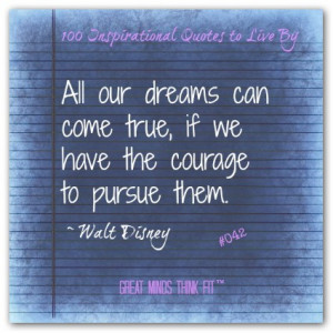 Positive Quote by Walt Disney