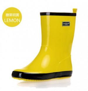 Rainboots lluvia agua zapatos de goma del color del caramelo del