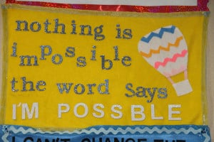 Inspirational Banners Created by Elementary Students