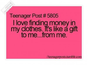 love finding money in my clothes quote